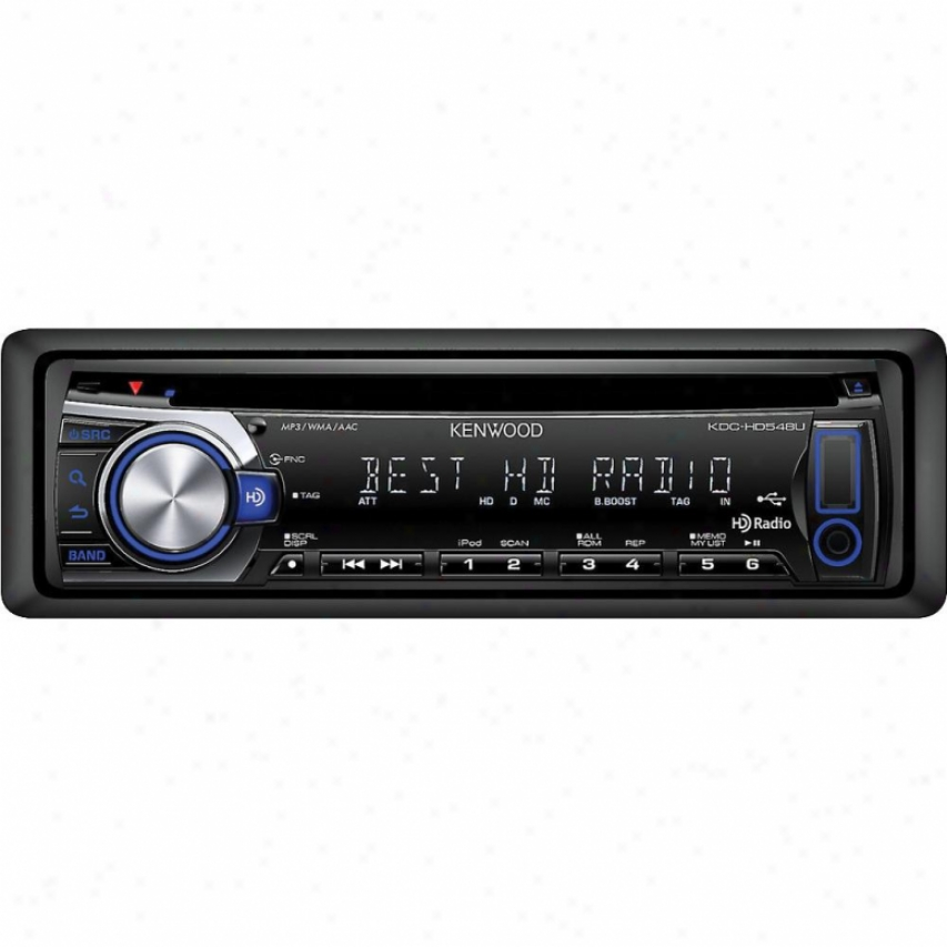 Kenwood Kdc-hd548u Car Cd-receiver Wuth Built-in Hd Radio