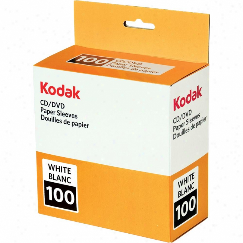 Kodak White Paper Cd Sleeves - 100 Pack 70552