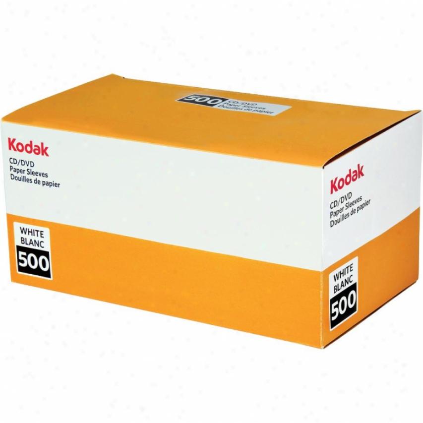 Kodak White Paper Cd Sleeves - 500 Pack 70554