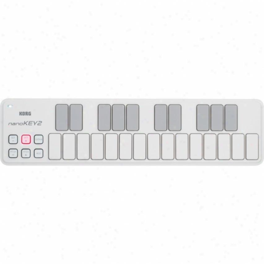 Korg Nanokey2 Slim-line Usb Keyvoard - White