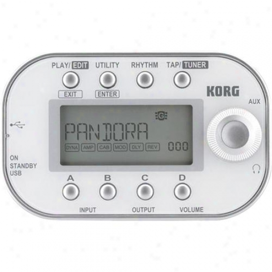 Korg Pandora Mini - Personal Multi-effect Processor - White