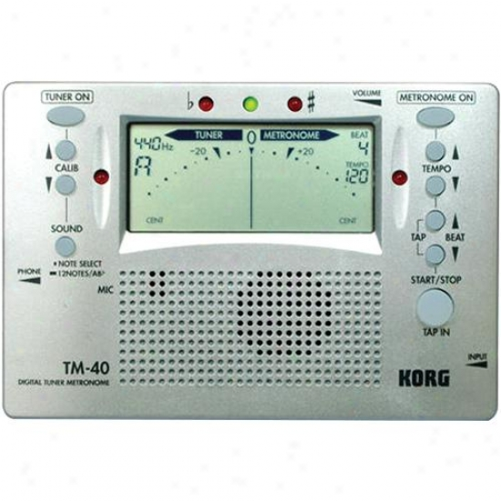 Koorg Tm-40 Digital Metronome And Instrument Tuner