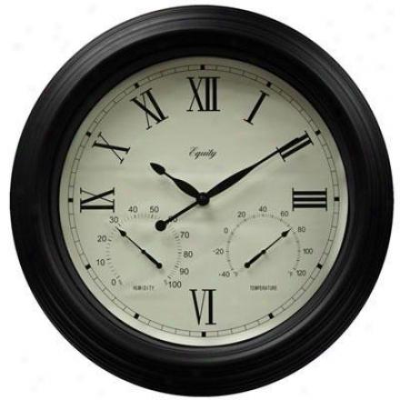 """La Crosse Technology Ltd Elc 18"""" Metal Outdoor Clock"""