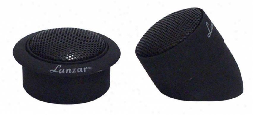 Lanzar 1'' Titanium Dome Neodymium Flush, Surface Or Angle Mount Tweeter