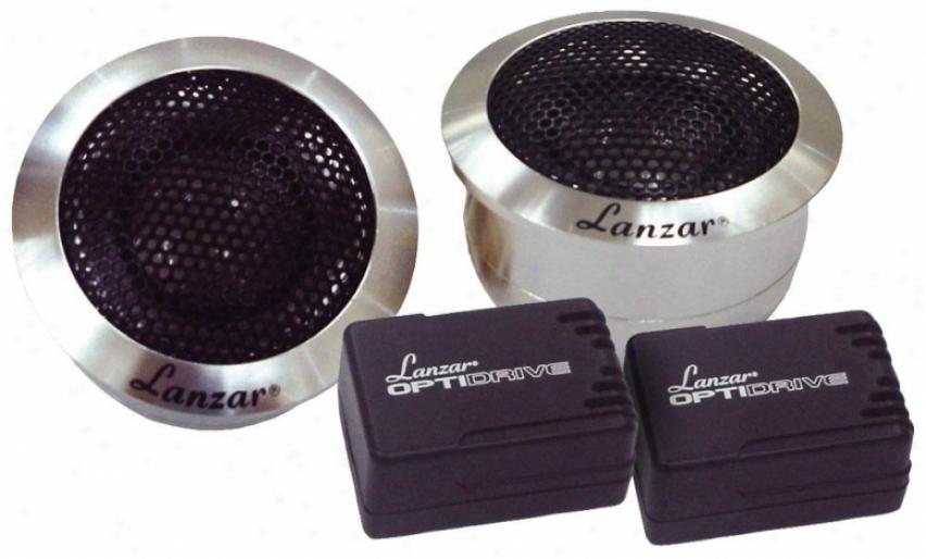 Lanzar 1'' Titanium Cupola Tweeter Aluminum Hojsings Optidrive Optitw