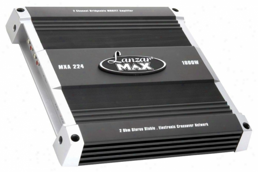 Lanzar 2 Channel Bridgeable Mosfet Amplifier 1000 Watts Mxa224