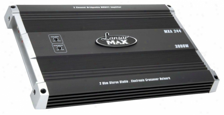 Lanzar 2 Channel Bridgeable Mosfet Amplifier 3000 Watts Mxa244