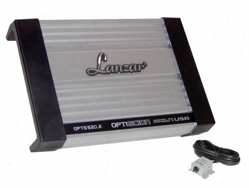 Lanzar 2 Channel Competition Amplifier 380 Watt Opti Scion Opts520.2