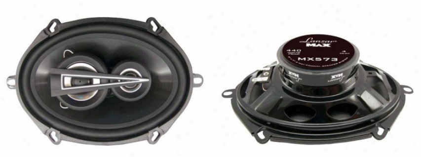 Lanzar 5''x7'' 3 Way Coaxial Speakers 440 Watts Mx573