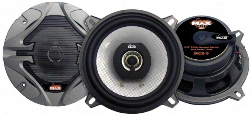 Lanzar 5.25'' 2-way Speakers 160 Watts Max Pro Mcx5