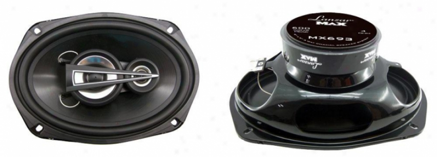 Lanzar 6''x9'' 3 Way Coaxial Speakers 600 Watts Mx693