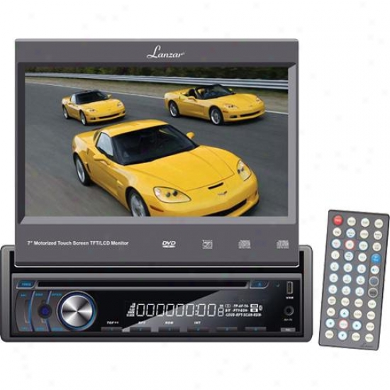 Lanzar 7-in Motorized Touch Screen Tft/lcd MonitorW ith Dvd/cd/mp3/mp4/am/fm Pla