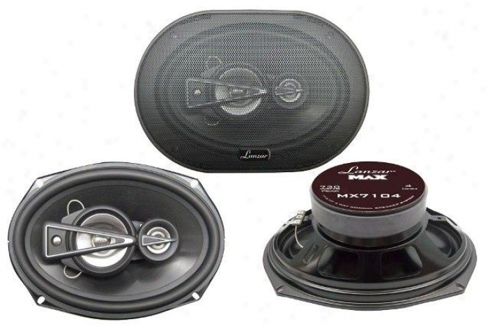 Lanzar 7&#039;&#039;x 10&#039;&#039; 4 Way Coaxial Speaker 730 Watts Mx7104