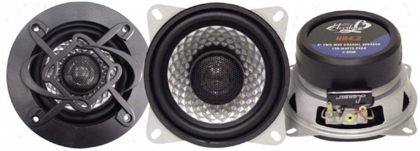 Lanzar Heritage 4'' Two-way Coaxial Speakers