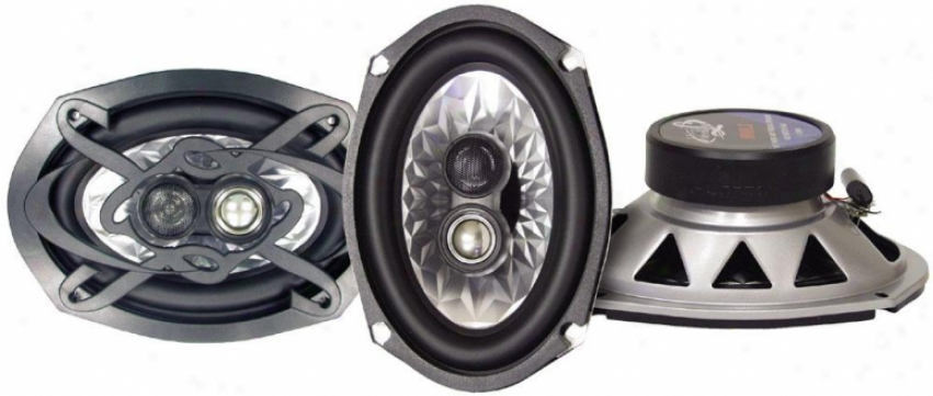 Lanzar Heritage 6''x 9'' Thrre-way Triaxial Speakers