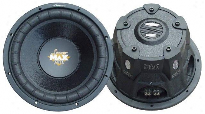 Lanzar Max Pro 15'' 2000 Watt Small Enclosure Dual 4 Ohm Subwoofer