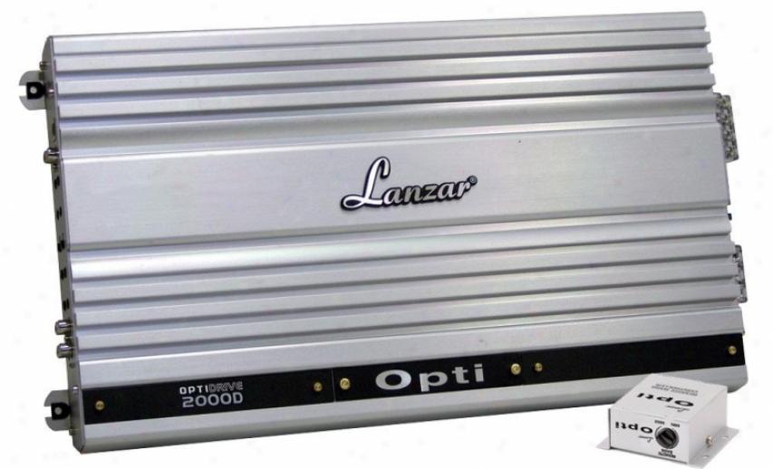 Lanzar Mono Block Competition Class Amplifier 2000 Watt Optidrive Opti2000d