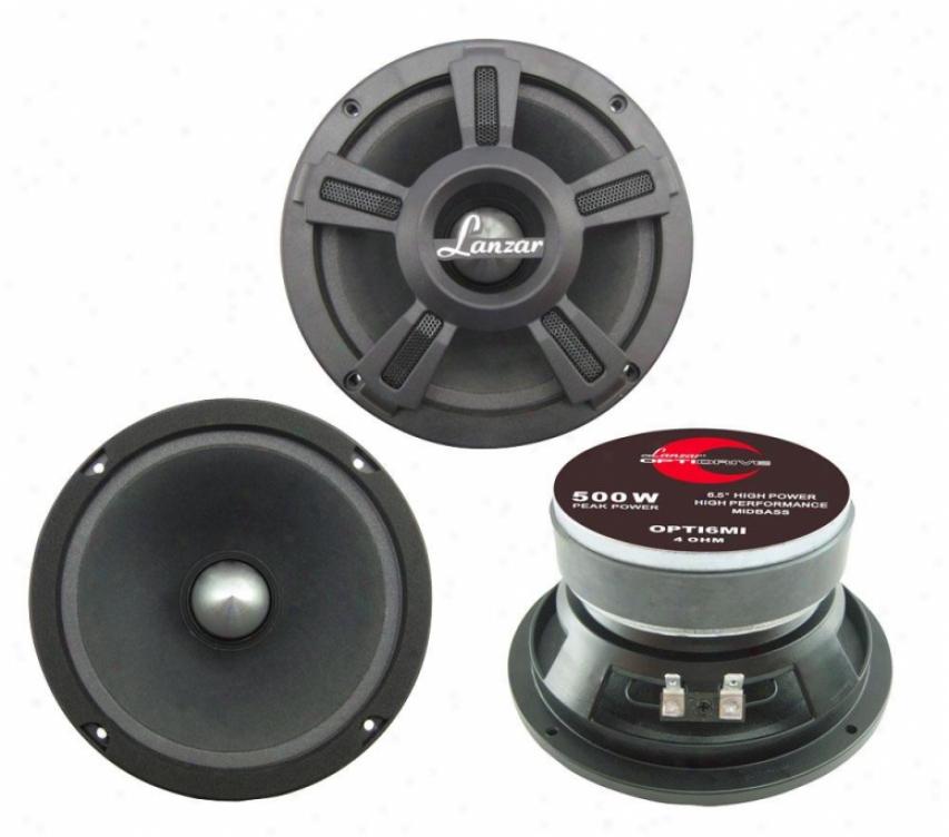 Lanzar Opti Pro 500 Watts 6.5&0#39;' High Power Midbass Speaker