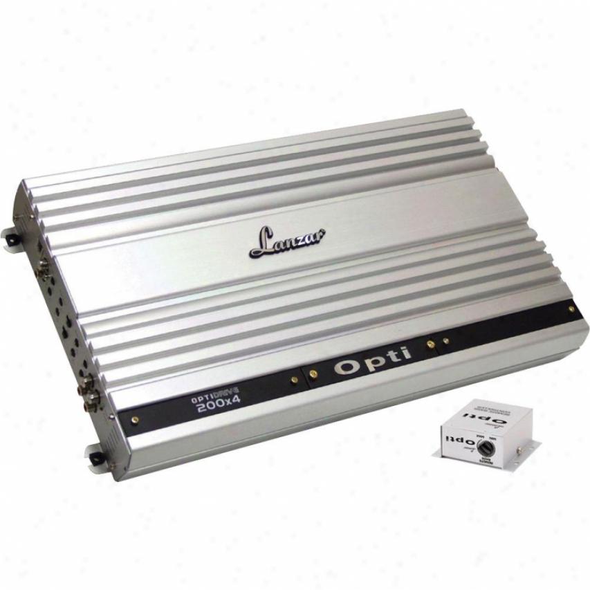 Lanzar Optidrive 1600 Watt 4 Channel Competition Class Amplifier