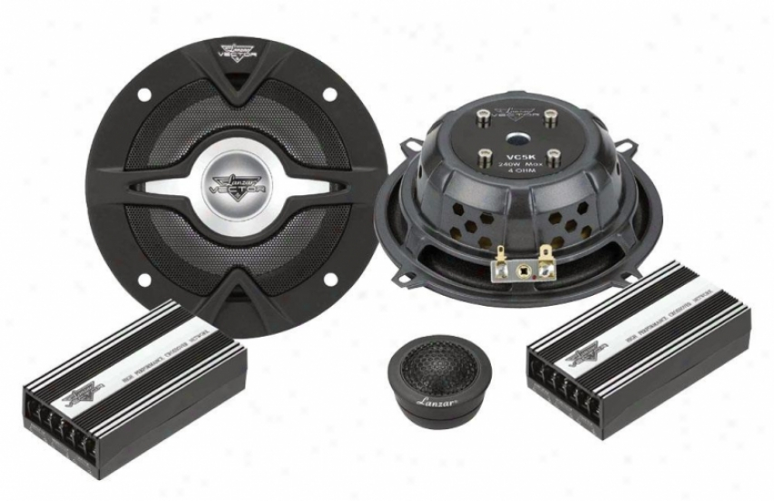Lanzar Vector 5.25'' 2-way Slim Component Speaker System