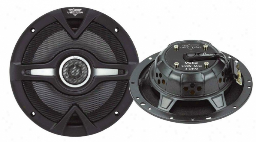 Lanzar Vector 6.4'' 200 Watts 2-way Slim Speakers