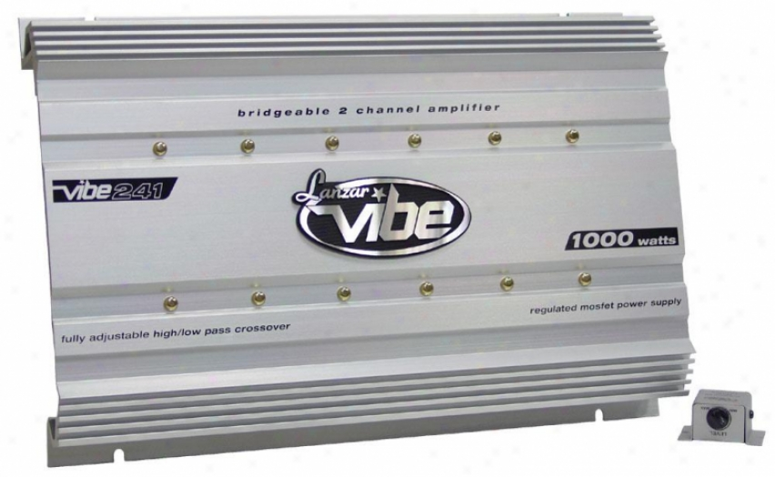 Lanzar Vibe 1000 Watt 2 Channel Mosfet Amplifier