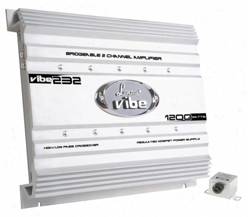 Lanzar Vibe 1200 Watts 2 Channel Mosfet Amplifier