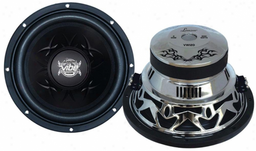 Lanzar Vibe 12'' 1600 Watt Dual 4 Ohm Chrome Subwoofer