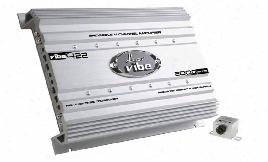 Lanzar Vibe 2000 Watt 4 Channel Mosfet Amplifier