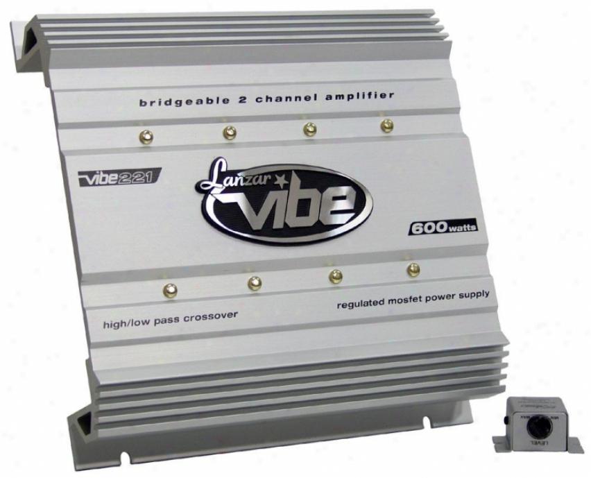 Lanzar Vibe 600 Watt 2 Channel Mosfet Amplifier