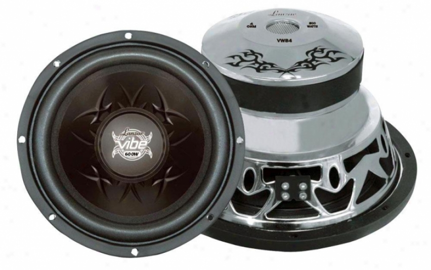"Lanzar Vibe 800 Watts 8"" 4 Ohm Subwoofer"
