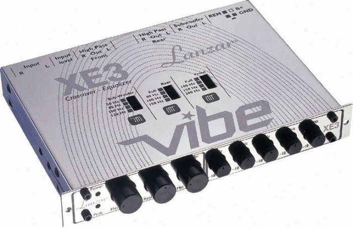 Lanzar Vibe Half Din In-dash 3 Way Electronic Crossover/5 Band Equalizer