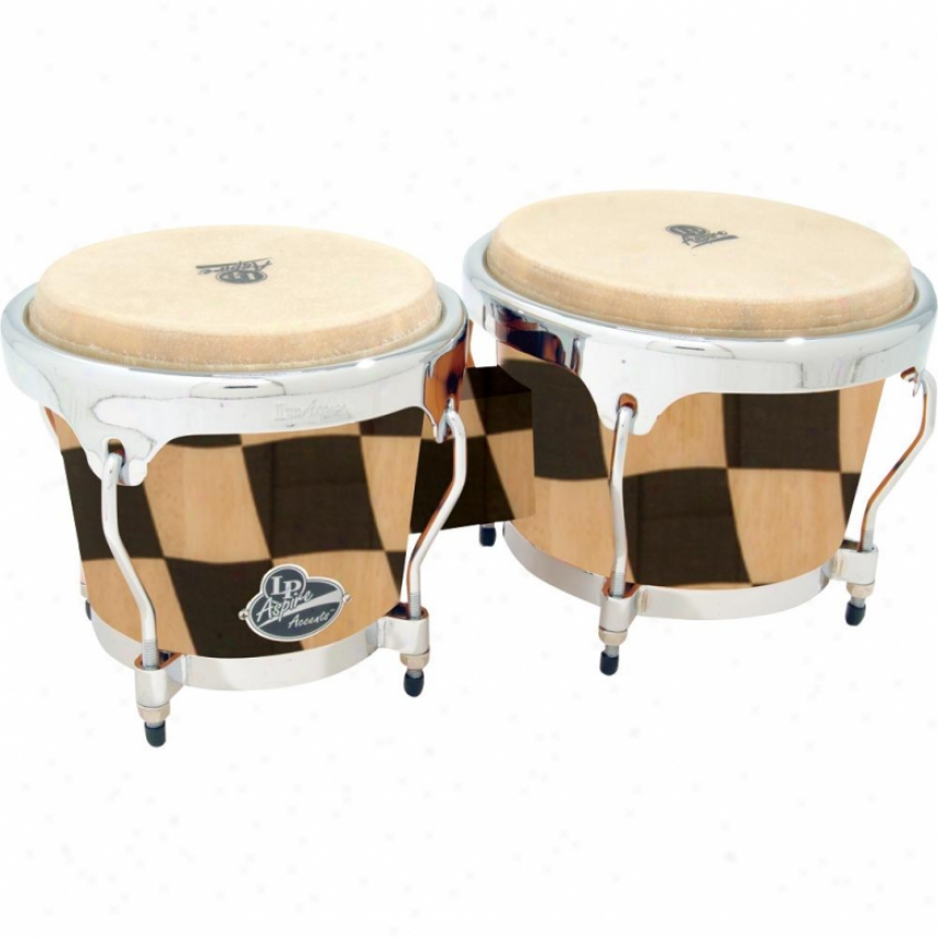 Latin Percussion Aspire Accent Series Wood Bongos - Checker Board