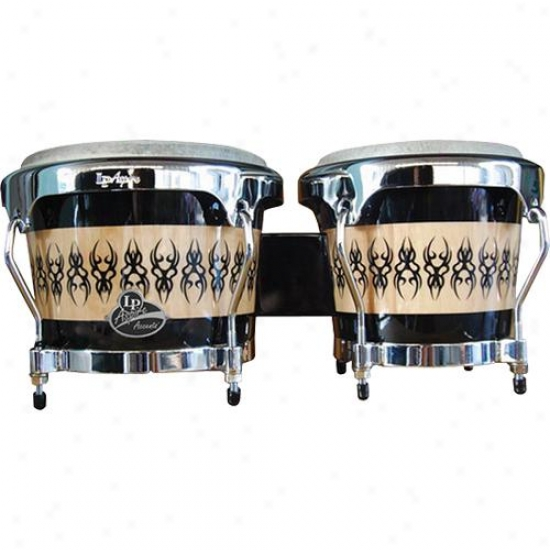 Latin Percussion Aspire Wood Bongos - Beetle Design
