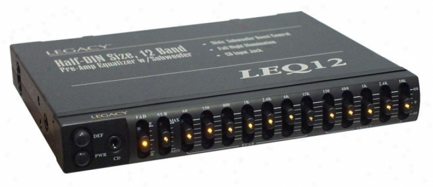 Legacy 12 Band Pre-amp Equalizer W/subwoofer Boost Control