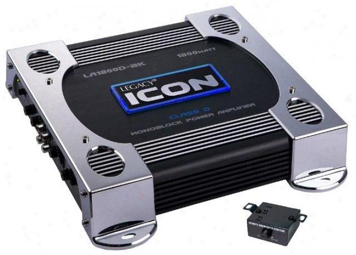 Legacy 1800 Watt Mono-block Class-d Amplifier (black)