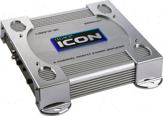Legacy 2 Cahnnel 2000 Watt Bridgeable Mosfet Amplifier (silver)
