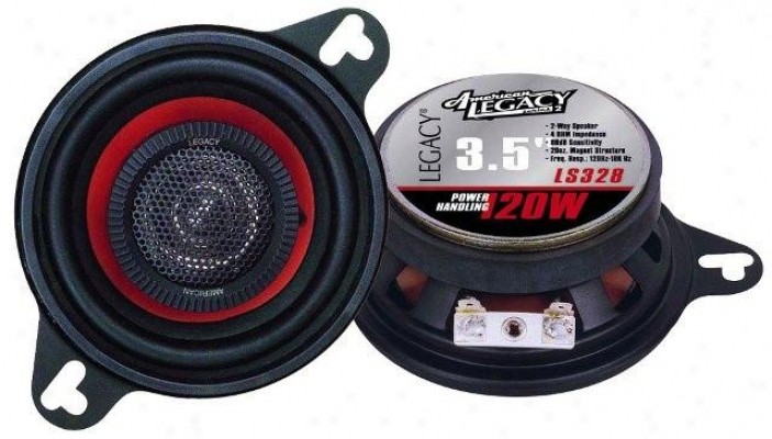 Legacy 3.5'' 120 Watt Two-way Speakers