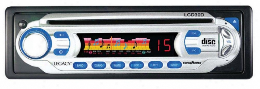 Legacy Am/fm Analog Display Receiver Auto Loading Cd Player W/detachable Face
