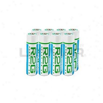 Lenmar Enterprises Ready-2-go Battery Aa 8-pack
