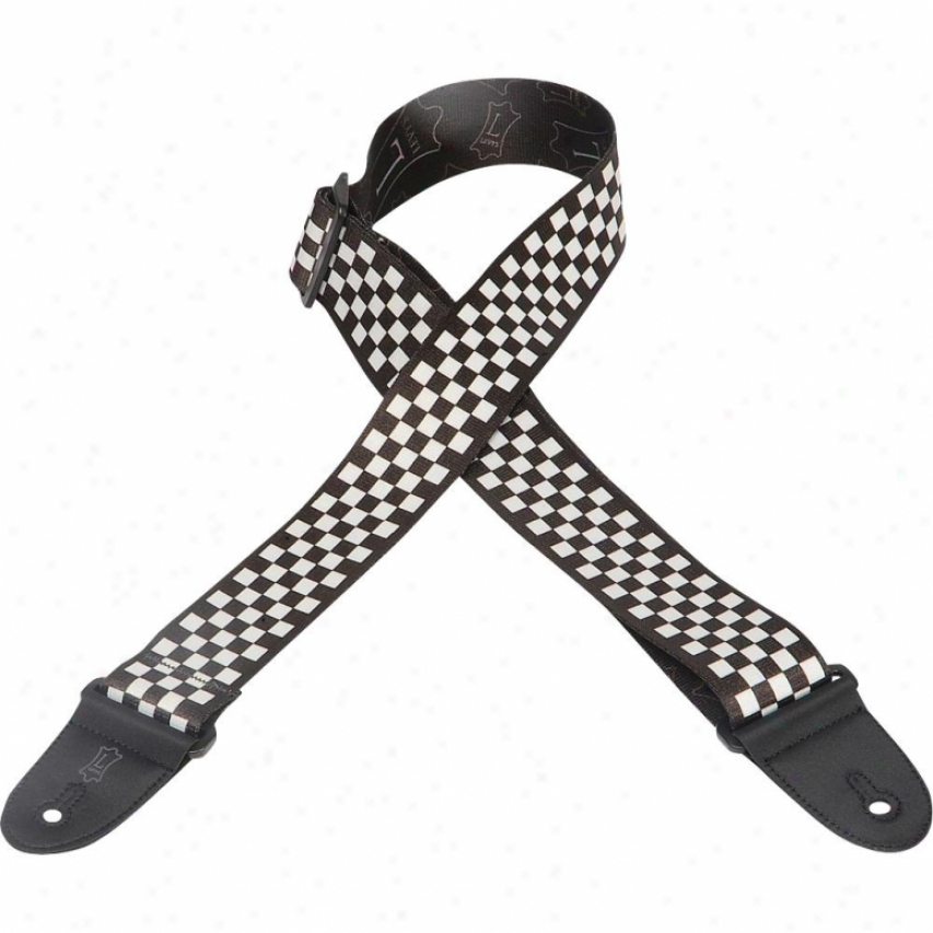 """Levy's Leathers Mp282 """" Polyester Guitar Strap - Checkerboard Pattern"""