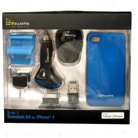 Lifeworks Essentials Kit Iphone 4 Blue