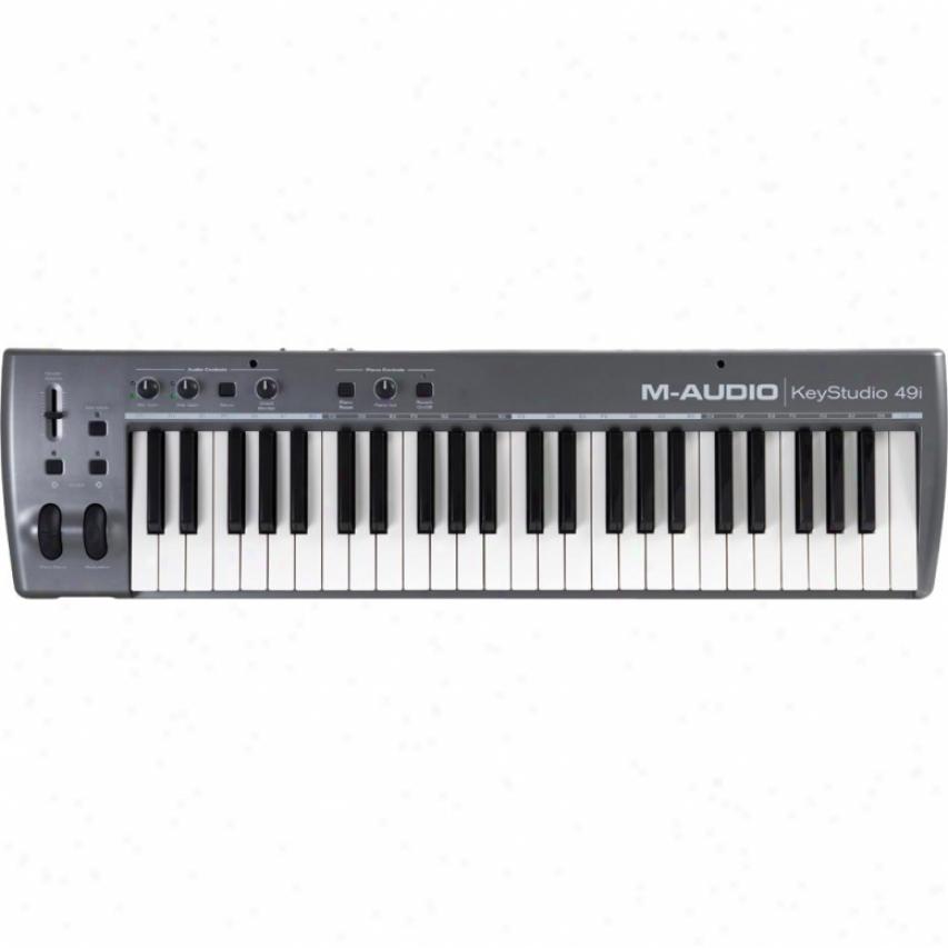 M-audio Keystudio 49i 49-key Usb Audio Interface Midi Controller Music Keyboard