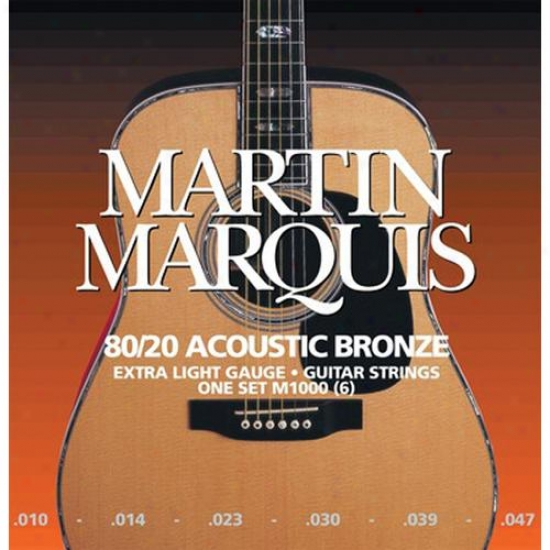 M1000 Marquis Bronze 6s-tring Acoustic Guitar Strings