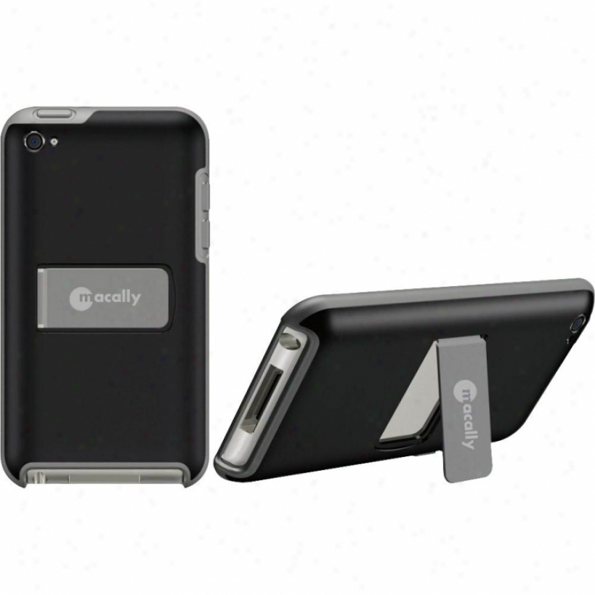 Macally Snap-on Case Touch 4g Blk/grey