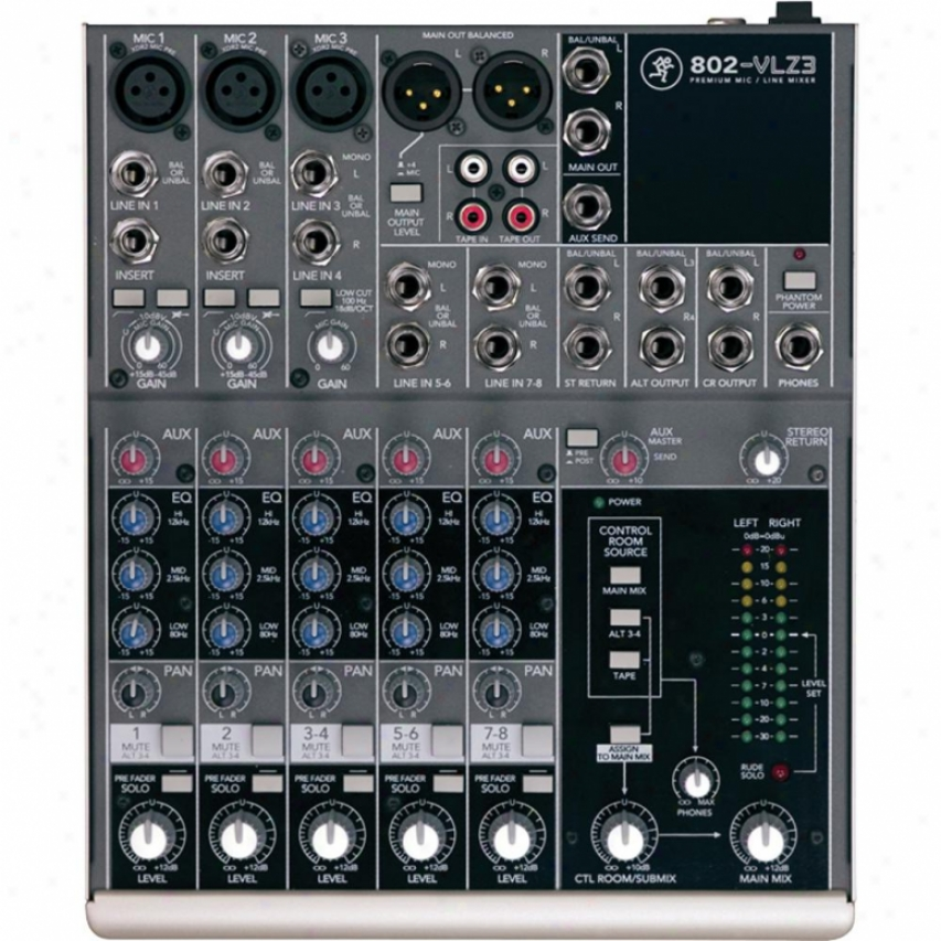 Mackie 802-vlz3 8-channel Non-powered Mixer