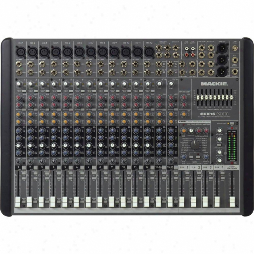 Mackie Cfx16.mkii 16-channel Live Sound Mixer With Emac Digital Effects