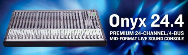 Mackie Onyx24.4 Premium 24-channel/4-bus Mid-format Live Sound Console