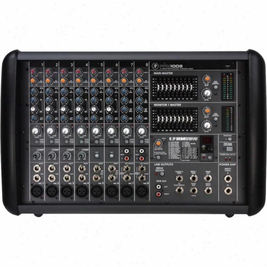 Mackie Ppm1008 1600-watt Professional 8-channel Powered Mixer W/ Effects