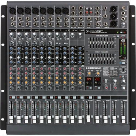 Mackie Ppm1012 12-channel 1600-watt Professional Powered Desktop Mixer W/ Effect